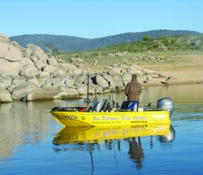 Casting soft plastics around the rocks will bring results