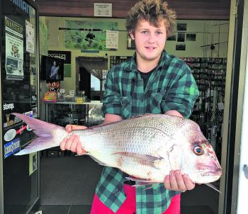 Matthew Hayden weighed in this 4.9kg snapper caught off Woody Head.
