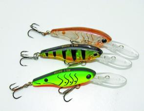 It's hard to go wrong with traditional diving lures like these Maria shads. Try bold colours in dirty water and more subtle, natural colours in clear water.