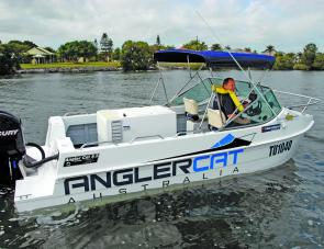 There is an impressive amount of fishing room available within the Angler Cat's wide cockpit.