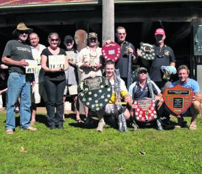 The major prizewinners gather after the Australian Bass Association's 2012 Clarrie Hall Bass Classic.