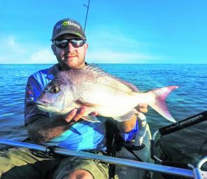 Jason Garner with a nice early morning Redcliffe snapper.