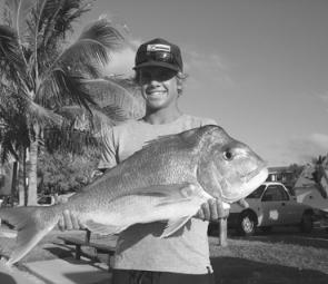 The reefs have still been producing quality snapper like this fish for anglers craving the swells and currents.