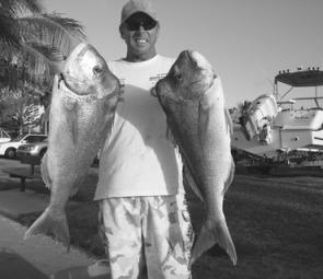 You could travel a lot further than wide of Caloundra to catch snapper like these two rippers. Right now the fishing is as good as ever.