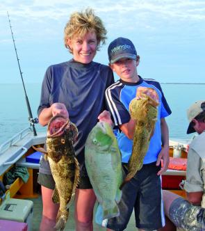 The Fanning family from Normanton are first time visitors to the Sweers Island Resort, and are living proof fishing is a great hobby for the whole family to enjoy.