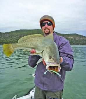 Jewfish will be active in October but covering a lot of water in a session is sometimes needed to get results.