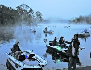 The pre-dawn start of the annual Bass Bash at Brogo Dam. It's on December 1 and 2.