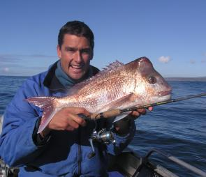 Chris Wright caught this great snapper off Eden.