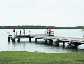 There are plenty of great land-based spots to fish this month, like Military Jetty.
