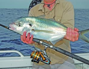 There are some solid silver trevally over the reefs this month. sometimes you get them even when chasing kings.