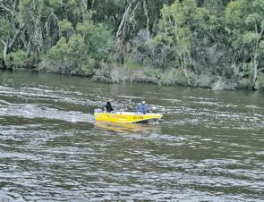 High river levels didn't deter the competitors from having a crack.