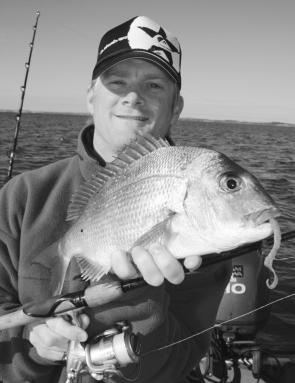 Soft plastics have become a popular way of targeting the local pinky snapper population.