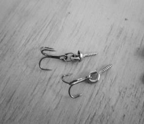Where trebles are secured with a screw eye, adding a split ring on the treble increases hook-ups on surface lures.