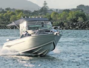The McLay hull is well designed and provides a smooth and quiet ride.