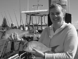 Jacquie Scarr had a great day aboard Ocean Star Charters and took home a nice feed of snapper.