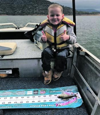 Cooper's first competition fish. Another future fishing addict is born.