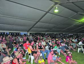 A crowd of 5,000 competitors and supporters gathered under the grand marquee at the Mulwala football ground for Sunday's presentations.