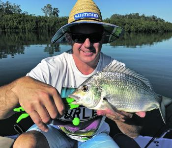 Warwick with a solid bream. Going deep this month will get you some.