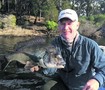 Pat Brennan with the type of black bream any angler would be happy with.