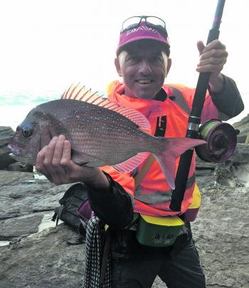 This is one of the snapper I caught at the new wash location. Up and down the coast there are lots of great snapper washes for the angler willing to get out there to find them.