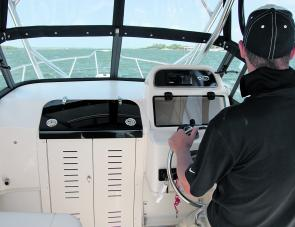 Standing to drive is assisted by the bolster section of the skipper's high backed seat.
