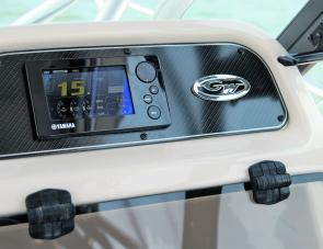 Engine data made easy: Yamaha's multi function LCD gauge.