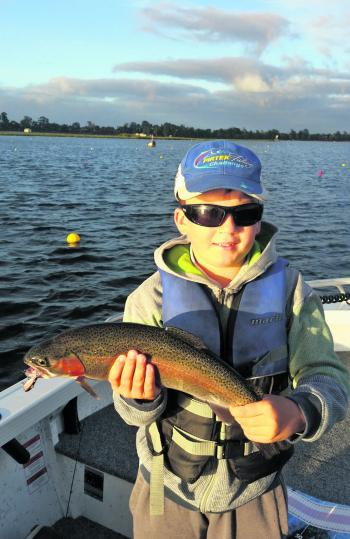 Zach Stevens' Lake Wendouree rainbow trout caught on the troll.