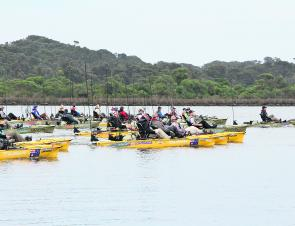 It was action stations each morning with over 100 kayaks hitting the startline.