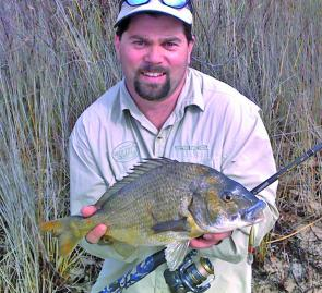 The author with a superb 41cm bream taken on a Stiffy Minnow.