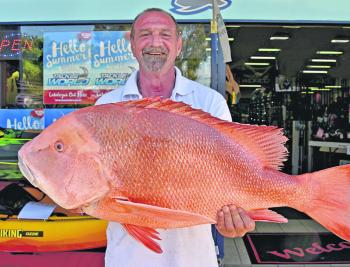 Norm Fiumara won the $50 Davo's Fish of the Week prize with this 15kg red emperor from The Hards.