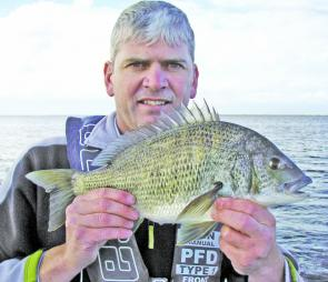 Mick Selzer with a stunning bream at 46cm and 3lbs 7oz.