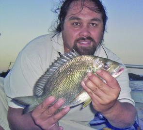 Steve Tracey with a quality bream from the Brisbane River.