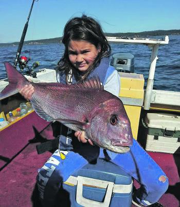 Leah Rigby was very happy with this snapper.