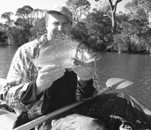 Anthony Havers with another bream falling to the popular Turtleback worm.
