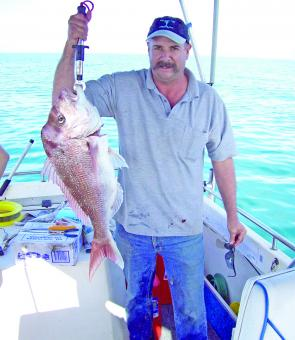Fabian Sutton caught this snapper near Yeppoon.