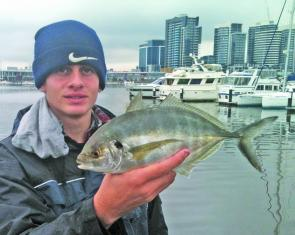 It has been a real mixed bag at Docklands lately with silver trevally taken amongst yellow-eye mullet, bream, pinkie snapper and the odd surprise flathead and ling.