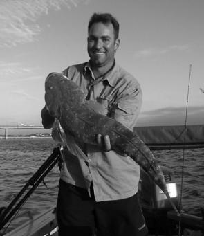 "Aaron Taylor of Mount Annan caught this 80cm, 4kg flathead near the Captain Cook Bridge on the last of the run-up tide on a Berkley 3"" Pogy. Aaron's mate Bruce Laws said the fish was photographed and released."