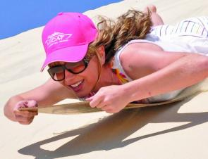 Sand boarding is just one of the many recreational activities Moreton Island is famous for. Great fun and excitement for the entire family.