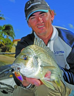 Kel Williams shows off this cracking bream. We should be in for a great season on these fish.