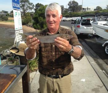 Wonthaggi angler Danny Luna with a very nice 41cm whiting caught on a Bass yabby.