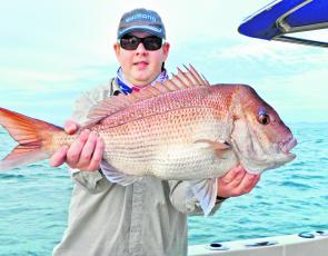 Jon Gapes with the sort of snapper available off the Coffs Coast this month.