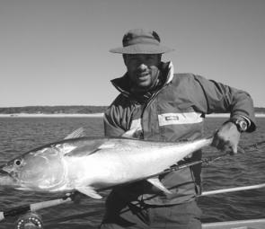 Longtail tuna on fly are a real challenge and when they're this big it's a real joy to land them.
