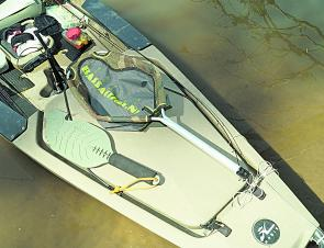 The BassAction kayak net and Backwater Assault hand paddle are well worth making room for on your kayak.