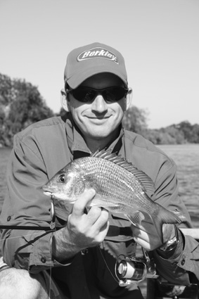 Brendan Kiely with an average size bream that snaffled his hard body presentation.