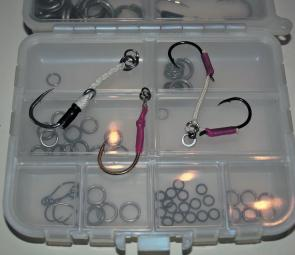 There are various styles and sizes of assist hooks to suit different micro jigging situations.