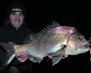 Although it can get bitterly cold, fishing the metropolitan rivers after dark can be productive at this time of year.