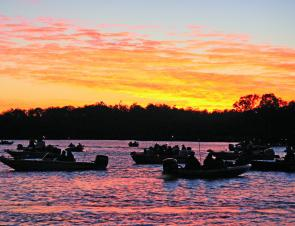Anglers hit the water pre-dawn and started fishing each morning just as the sun was coming up.