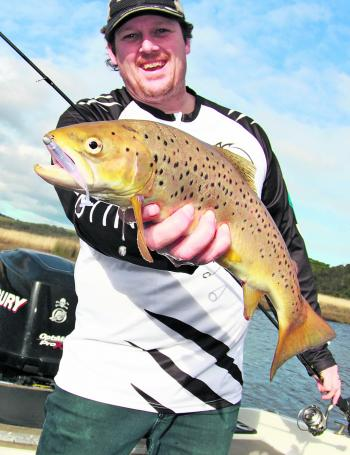 Sea-run trout are biting in the Aire River estuary about 20 minutes west of Apollo Bay.