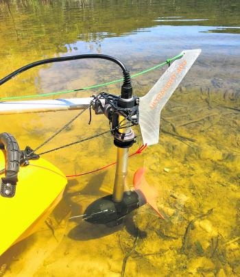 The Torqeedo Ultralight 403 is a 1hp electric motor that can be attached to most kayaks.