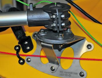 The universal mounting ball provided with the unit allows the 403 to be fitted easily to a kayak.